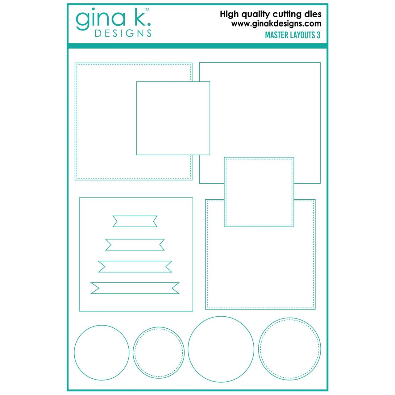 Master Layouts 3, Gina K Designs Dies -