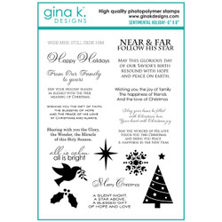 Sentimental Holiday, Gina K Designs Clear Stamps -