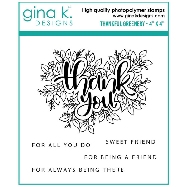 Thankful Greenery, Gina K Designs Clear Stamps -