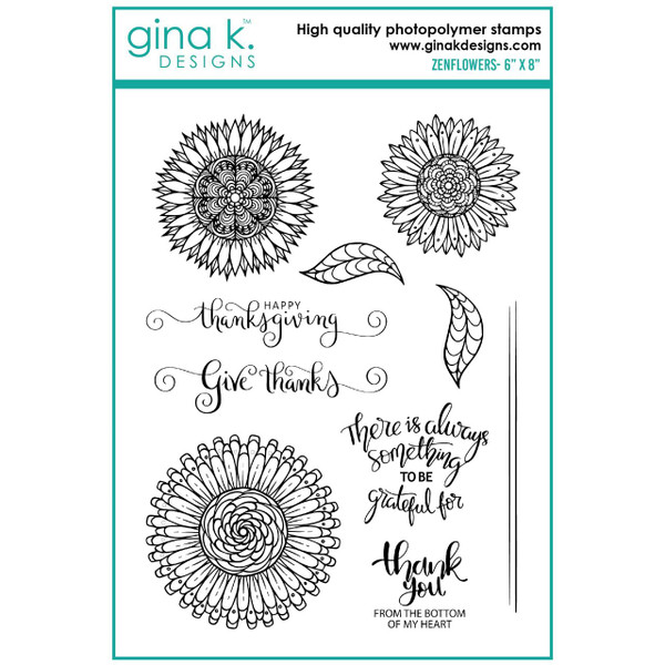 Zenflowers, Gina K Designs Clear Stamps -