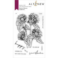 Paint-A-Flower: Sunflower Outline, Altenew Clear Stamps - 737787270226