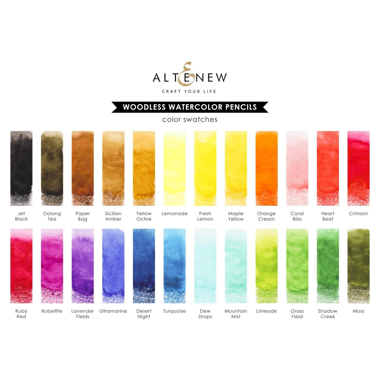 Woodless Watercolor Pencils Set of 24, Altenew - 737787267684
