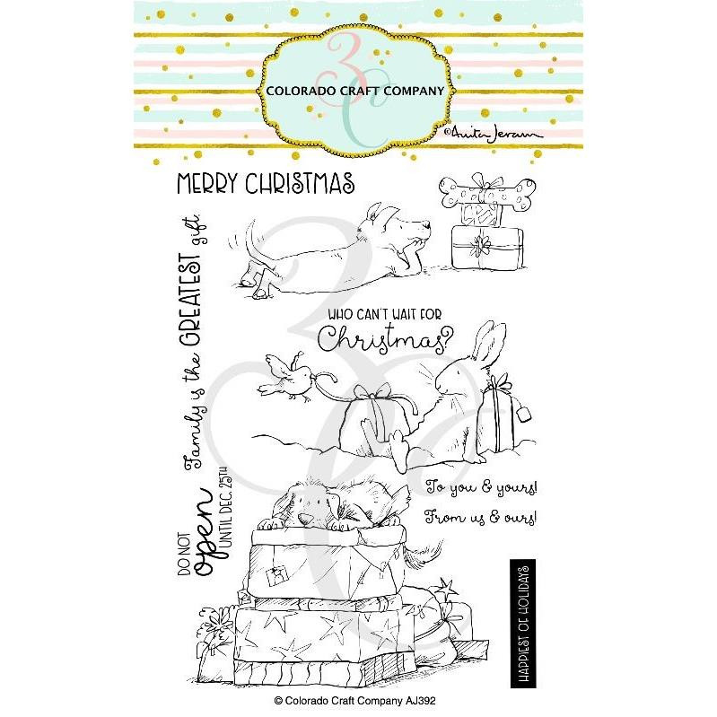 Christmas Presents by Anita Jeram, Colorado Craft Company Clear Stamps -