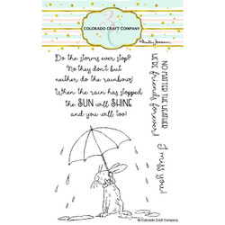 All Weather Friends by Anita Jeram, Colorado Craft Company Clear Stamps -