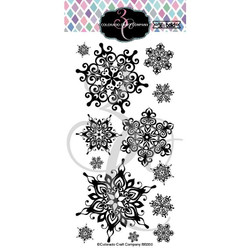 Nordic Snowflakes, Colorado Craft Company Clear Stamps -