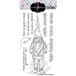 Slimline Gnome, Colorado Craft Company Clear Stamps -
