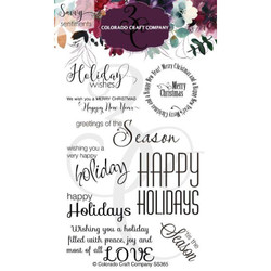 Holiday Wishes, Colorado Craft Company Clear Stamps -