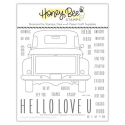 Big Pickup Tailgate, Honey Bee Clear Stamps - 652827599603