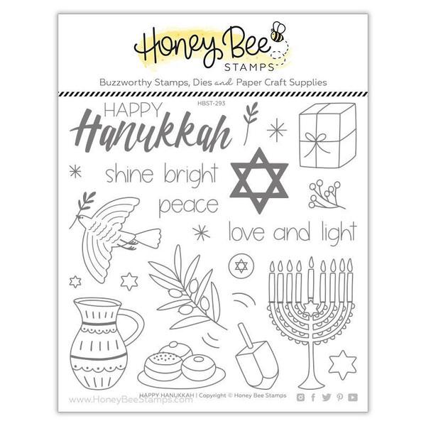 Happy Hanukkah, Honey Bee Clear Stamps - 652827599696