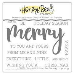 Merry, Honey Bee Clear Stamps - 652827599627