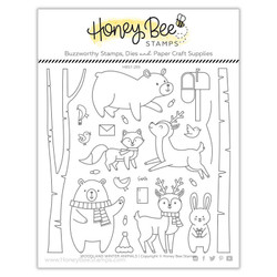 Woodland Winter Animals, Honey Bee Clear Stamps - 652827599719