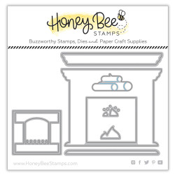 Fireplace Scene Builder, Honey Cuts Dies - 652827599924