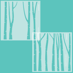 Layering Birch Trees, Honey Bee Stencils - 652827600101