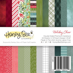 Holiday Cheer, Honey Bee 6 X 6 Paper Pad - 652827600149