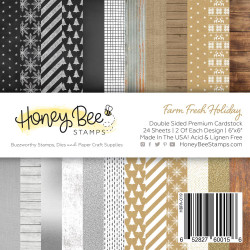 Farm Fresh Holiday, Honey Bee 6 X 6 Paper Pad - 652827600156
