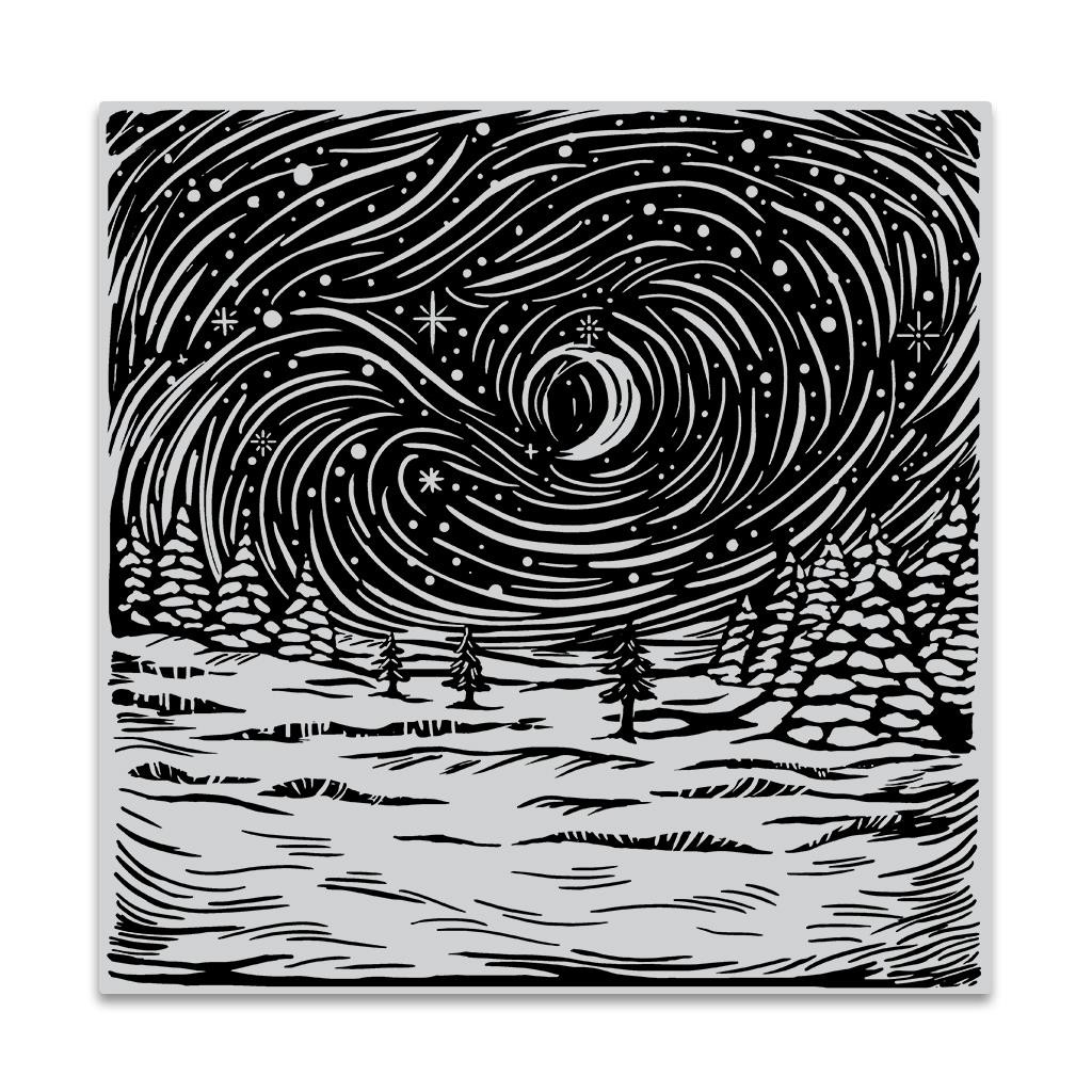 Etched Winter Scene Bold Prints, Hero Arts Cling Stamps - 085700928601