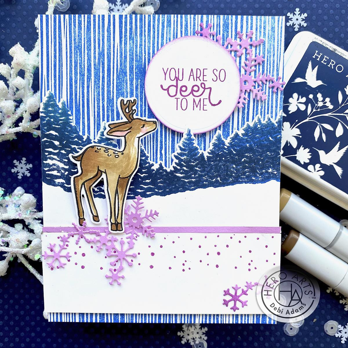 Abstract Linocut Bold Prints, Hero Arts Cling Stamps - 085700928618