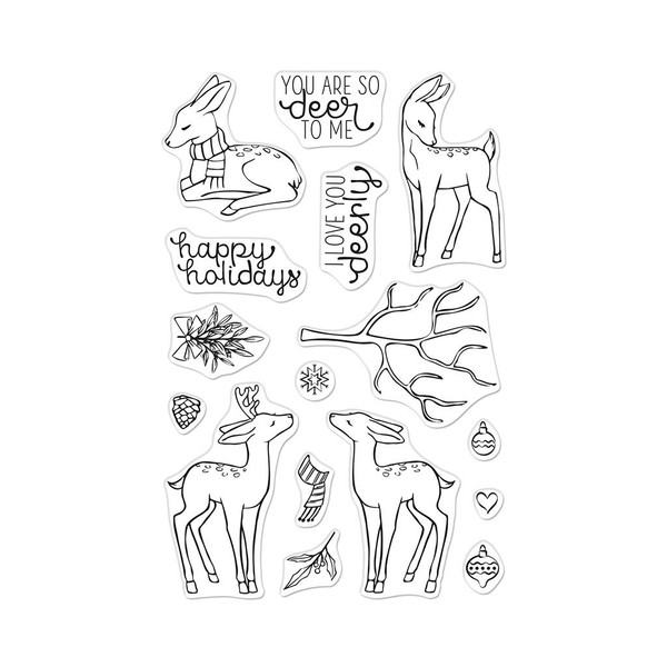 Love You Deerly, Hero Arts Clear Stamps - 085700928571