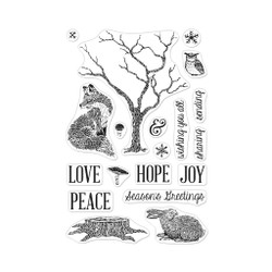 Winter Tree and Animals, Hero Arts Clear Stamps - 085700928632