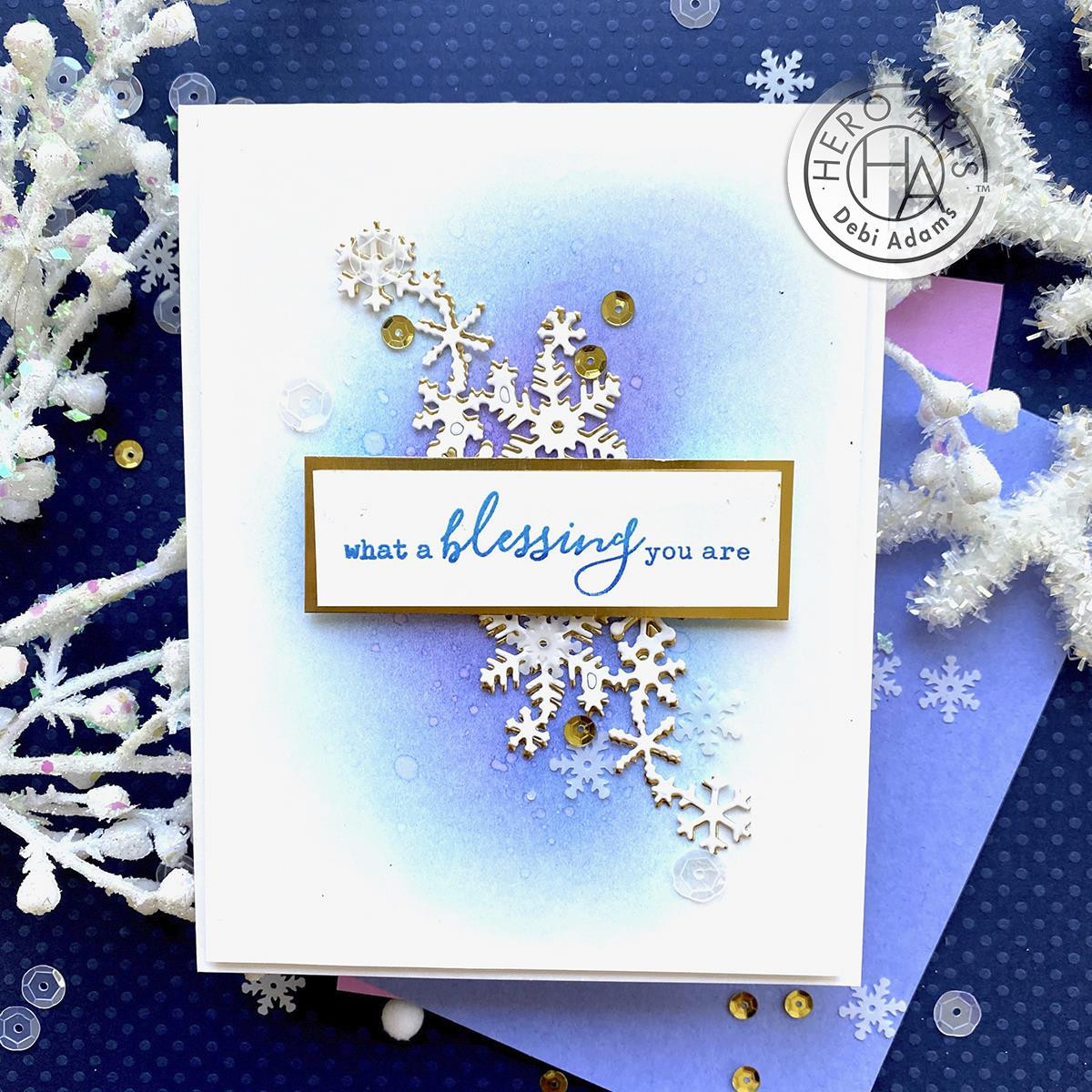 Holiday Blessings, Hero Arts Clear Stamps - 085700928656