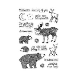 Fuzzy Winter Animals, Hero Arts Clear Stamps - 085700928663