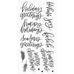 Hand-Lettered Holiday Greetings, My Favorite Things Clear Stamps - 849923037423