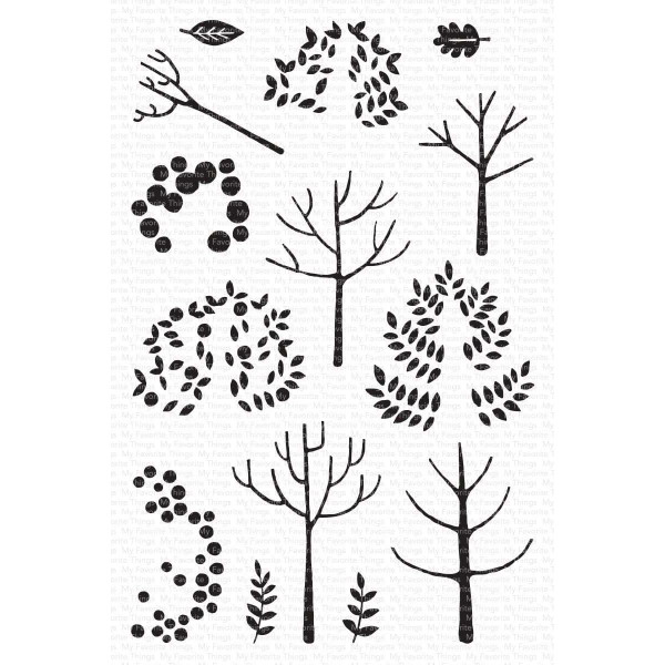 Modern Trees, My Favorite Things Clear Stamps - 849923037447