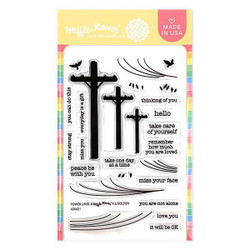 Power Lines, Waffle Flower Clear Stamps - 780348639970