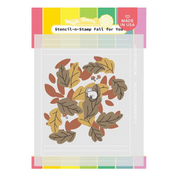 Fall for You, Waffle Flower Stencil-n-Stamp - 780348639857