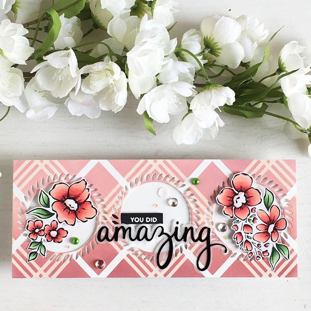 Floral Notes, Pinkfresh Studio Clear Stamps - 736952868718