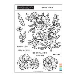 In Bloom, Concord & 9th Clear Stamps -