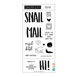 Snail Mail, Concord & 9th Clear Stamps -