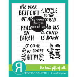The Best Gift of All, Reverse Confetti Clear Stamps -