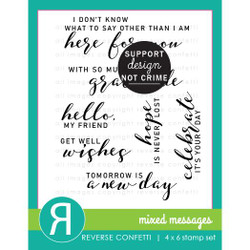 Mixed Messages, Reverse Confetti Clear Stamps -