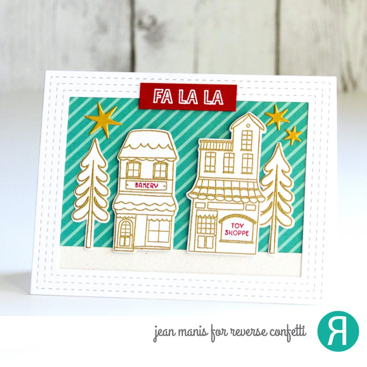 Home for the Holidays, Reverse Confetti Clear Stamps -