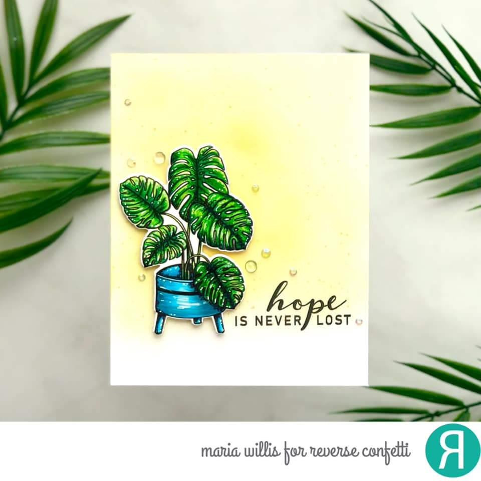 Botanical, Reverse Confetti Clear Stamps -