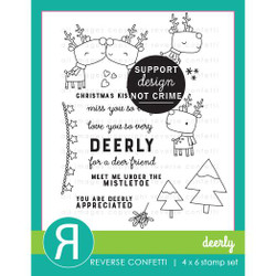 Deerly, Reverse Confetti Clear Stamps -