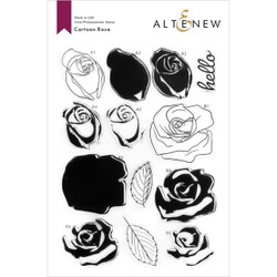 Cartoon Rose, Altenew Clear Stamps -