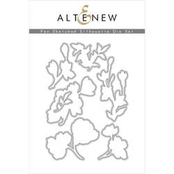 Pen Sketched Silhouette, Altenew Dies -