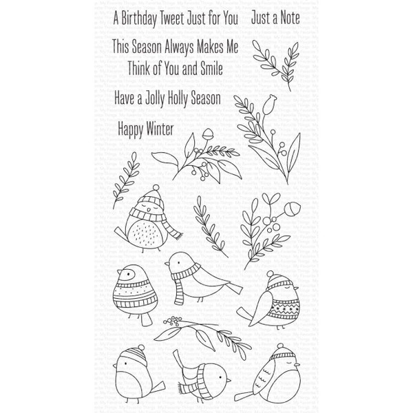Winter Songbird, My Favorite Things Clear Stamps -