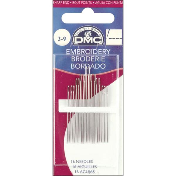 Size 3/9, DMC Embroidery Hand Needles -