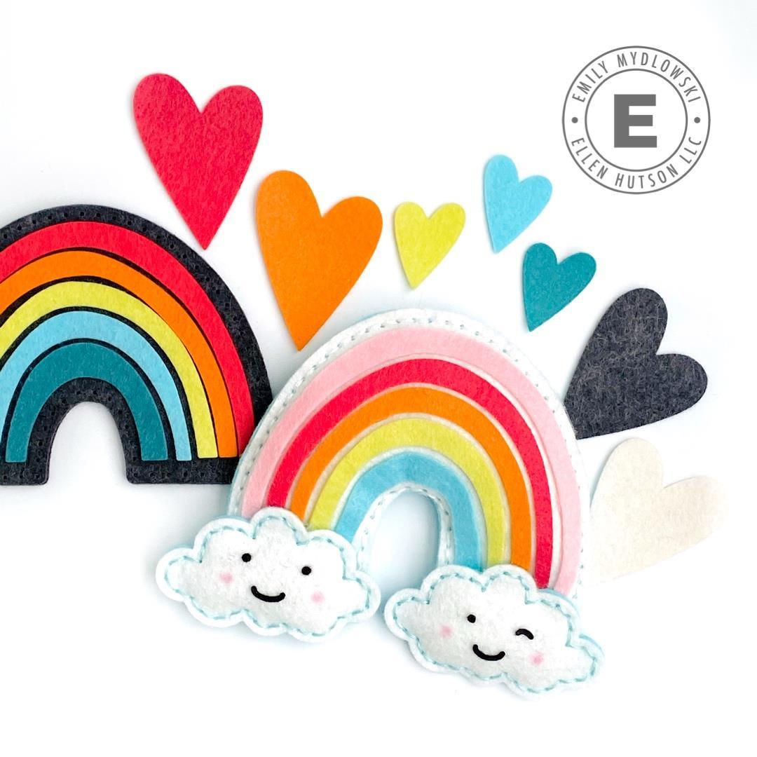Rainbow Plushie Felt Die, Essentials by Ellen Designer Dies -