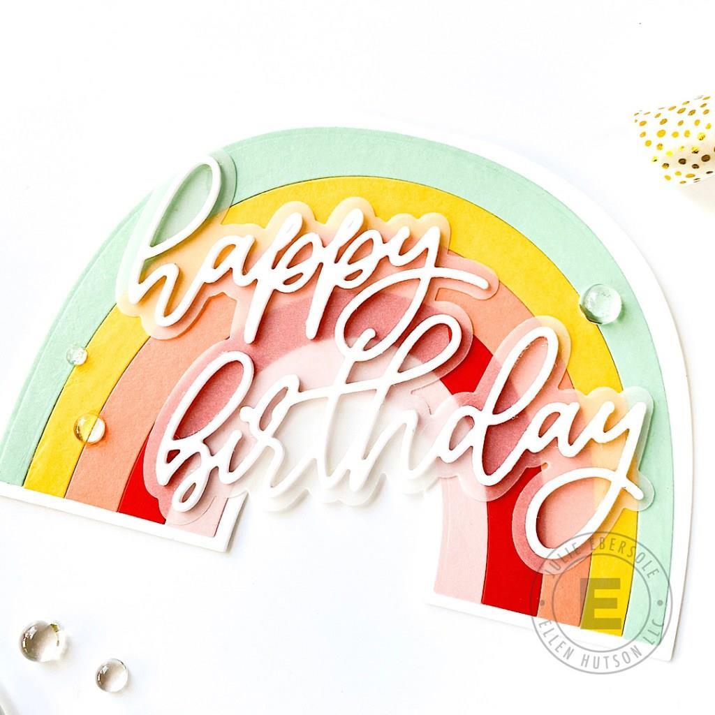 Rainbow Card by Julie Ebersole, Essentials by Ellen Designer Dies -