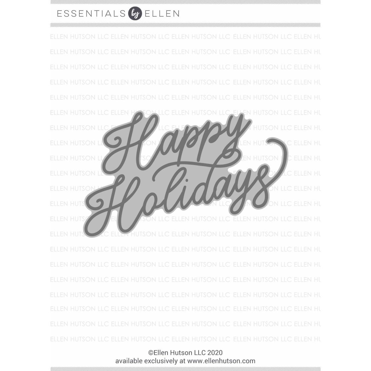 Happy Holidays by Julie Ebersole, Essentials by Ellen Hot Foil Stamps -