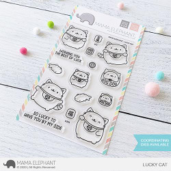 Lucky Cat, Mama Elephant Clear Stamps -