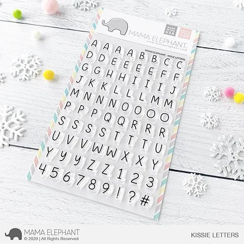 Kissie Letters, Mama Elephant Clear Stamps -