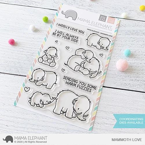 Mammoth Love, Mama Elephant Clear Stamps -