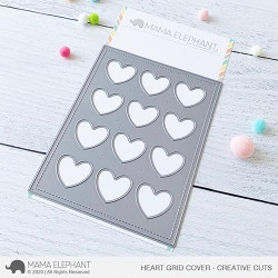 Heart Grid Cover, Mama Elephant Creative Cuts -