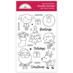 Night Before Christmas, Doodlebug Clear Stamps -