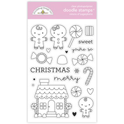 Visions of Sugarplums, Doodlebug Clear Stamps -